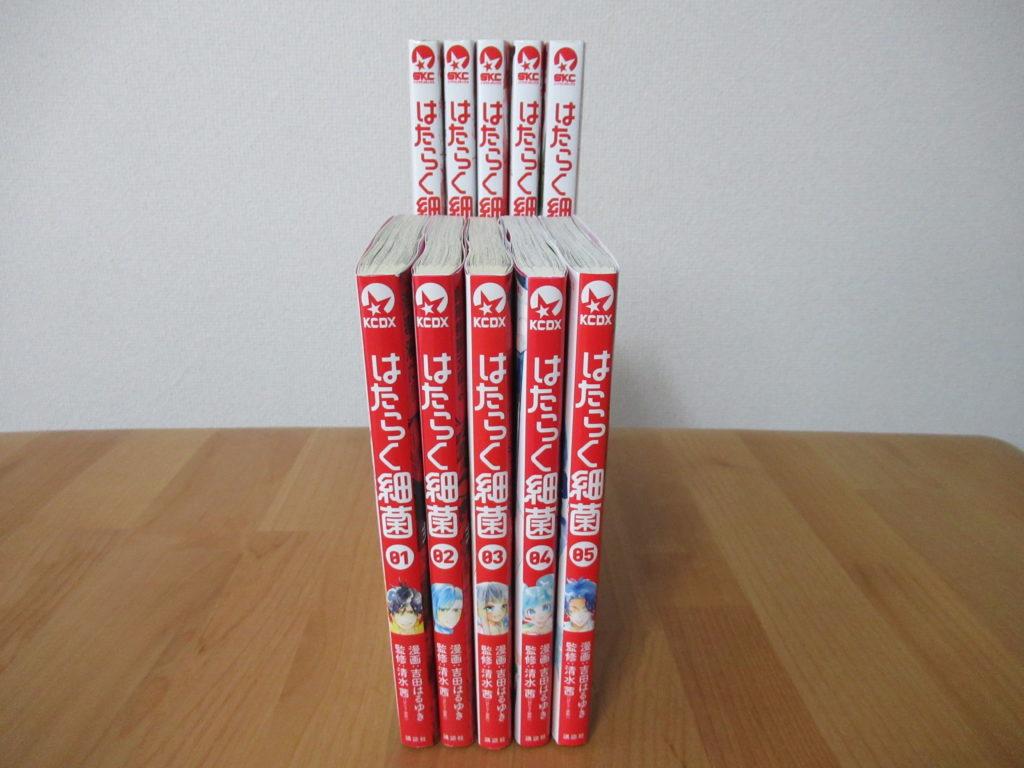 セリアの2段式コミックスタンドに本を入れたところ