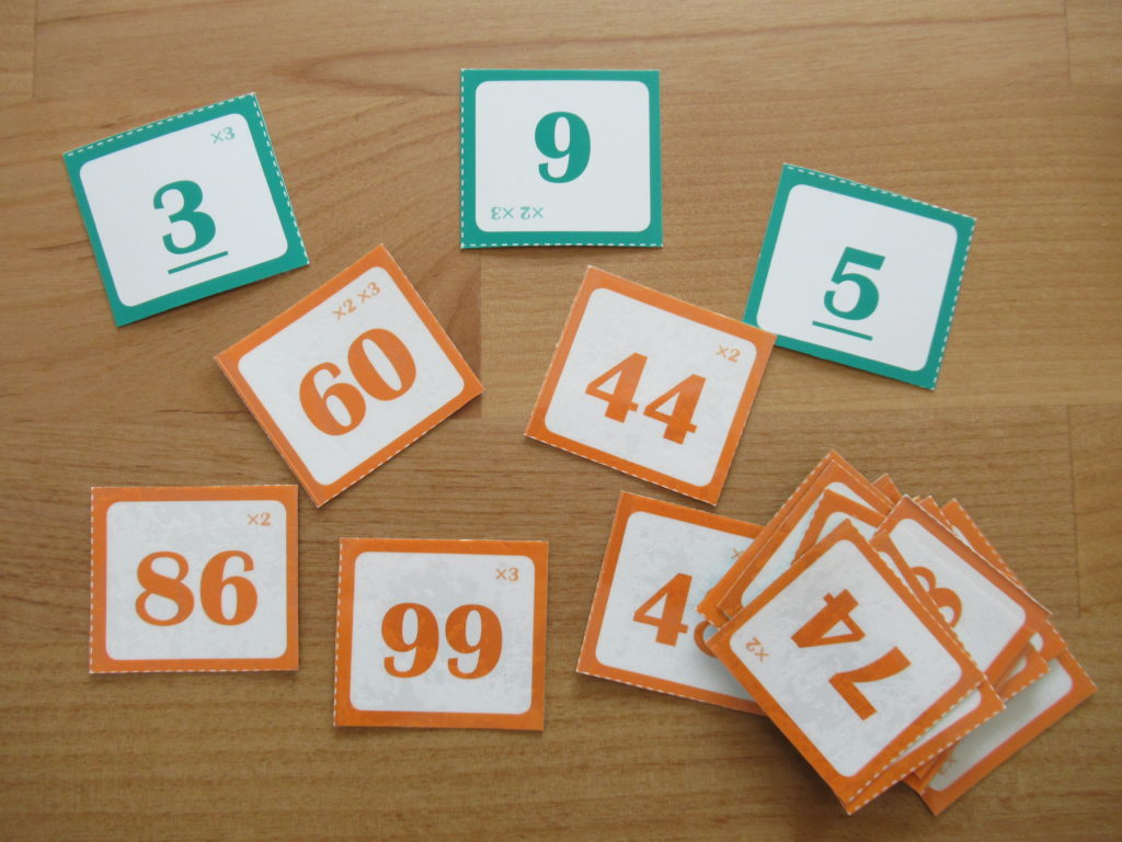 算数センスを伸ばす本の付録 補数カード