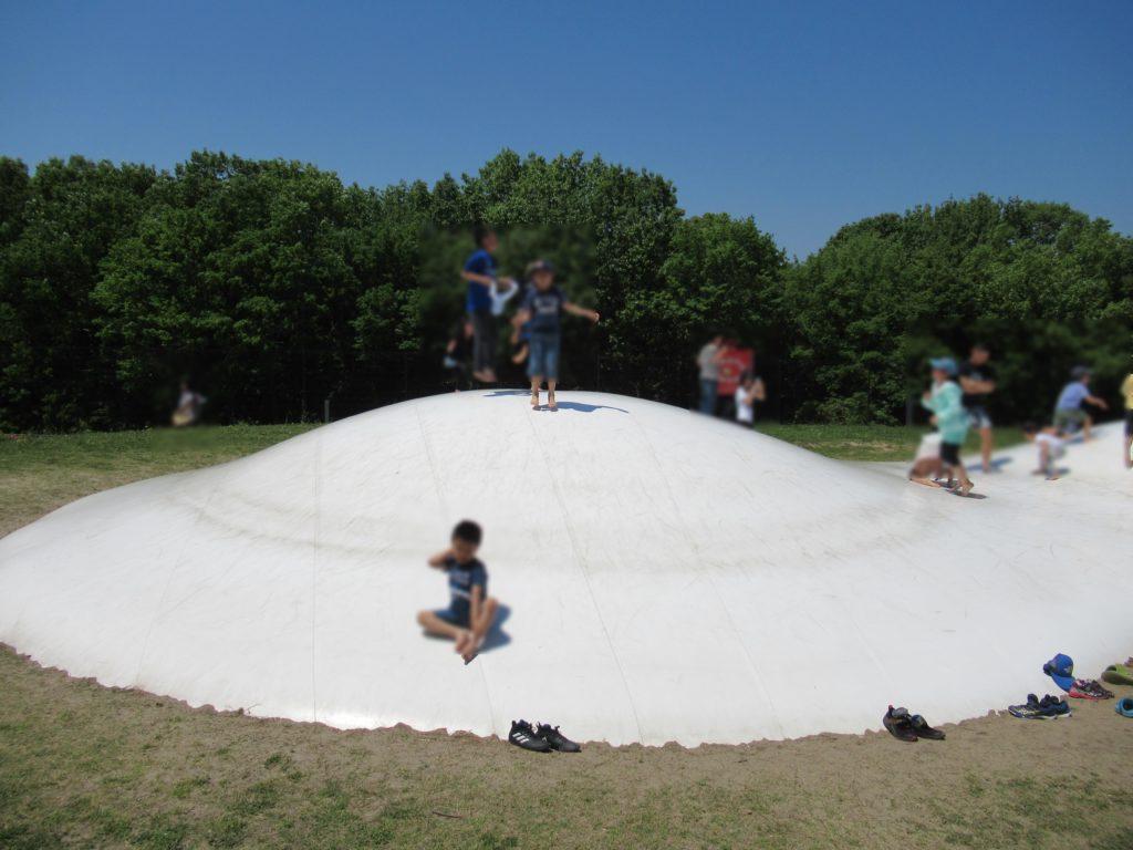 日本へそ公園にあるふわふわドーム