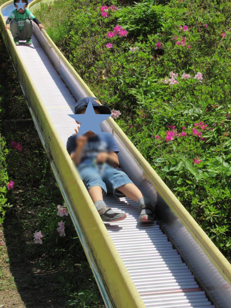 日本へそ公園にあるジャンボ滑り台