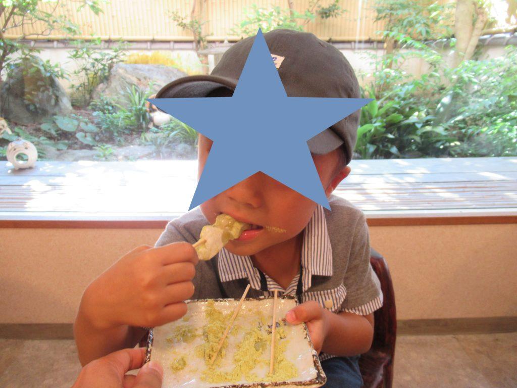 三井寺力餅を食べる