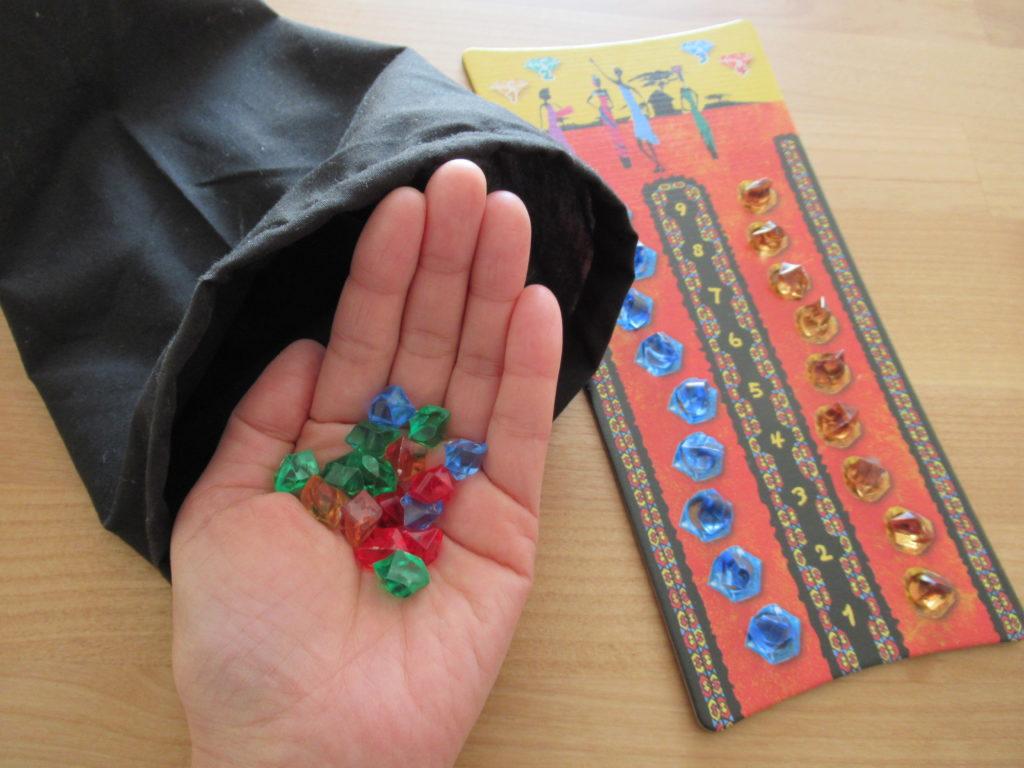 ボードゲーム「ウボンゴ」に入っている宝石