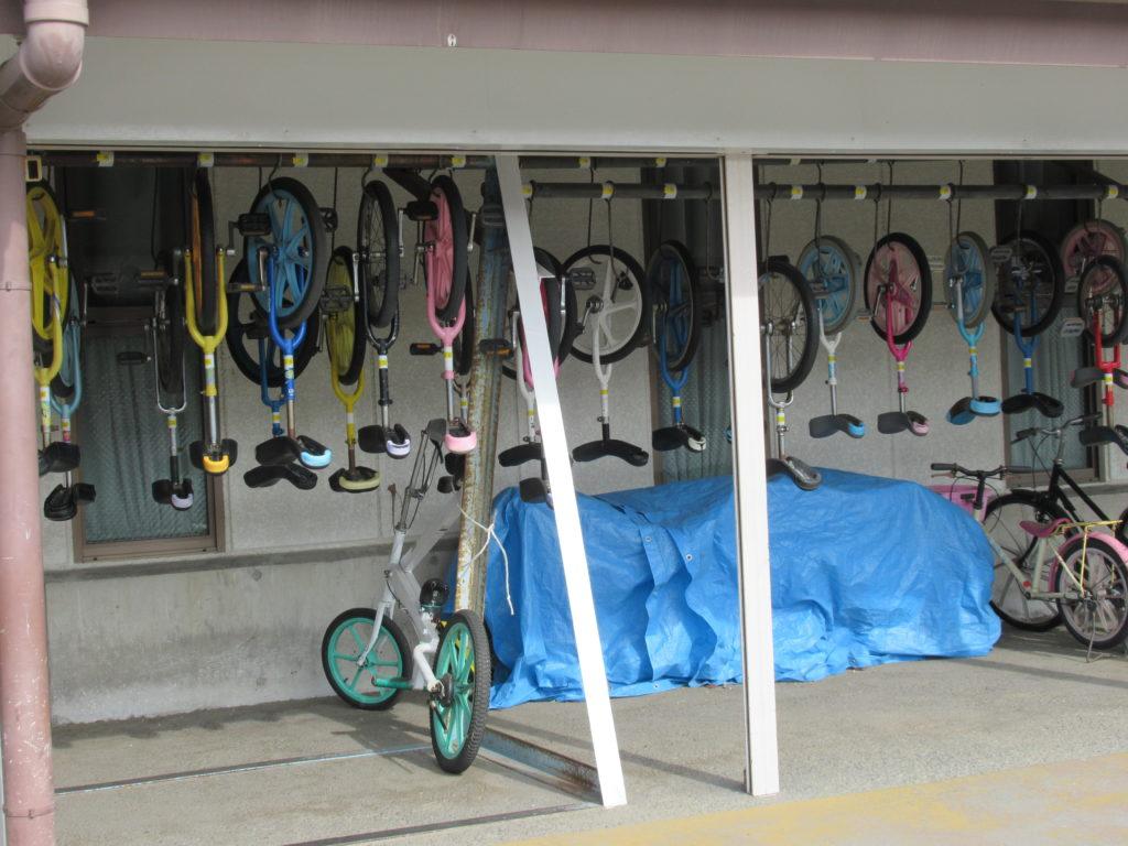 稲野公園運動施設の一輪車