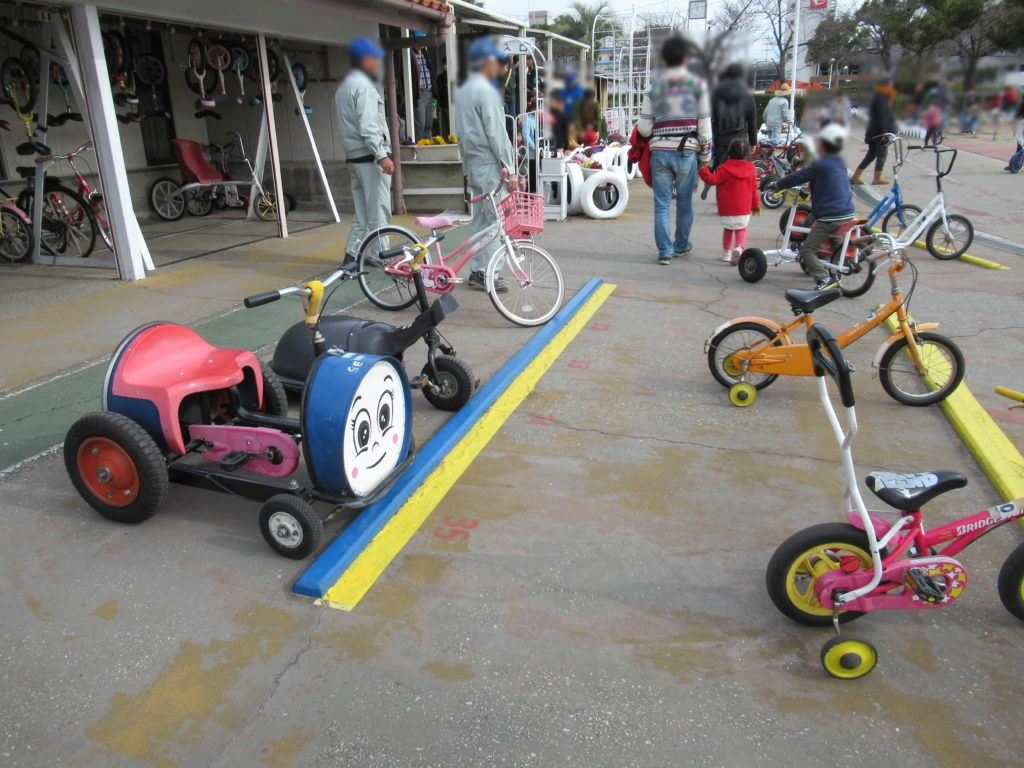 稲野公園運動施設の変形自転車