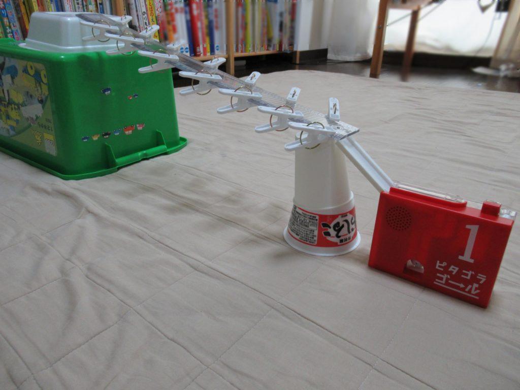 ピタゴラゴールを使って作ったピタゴラ装置
