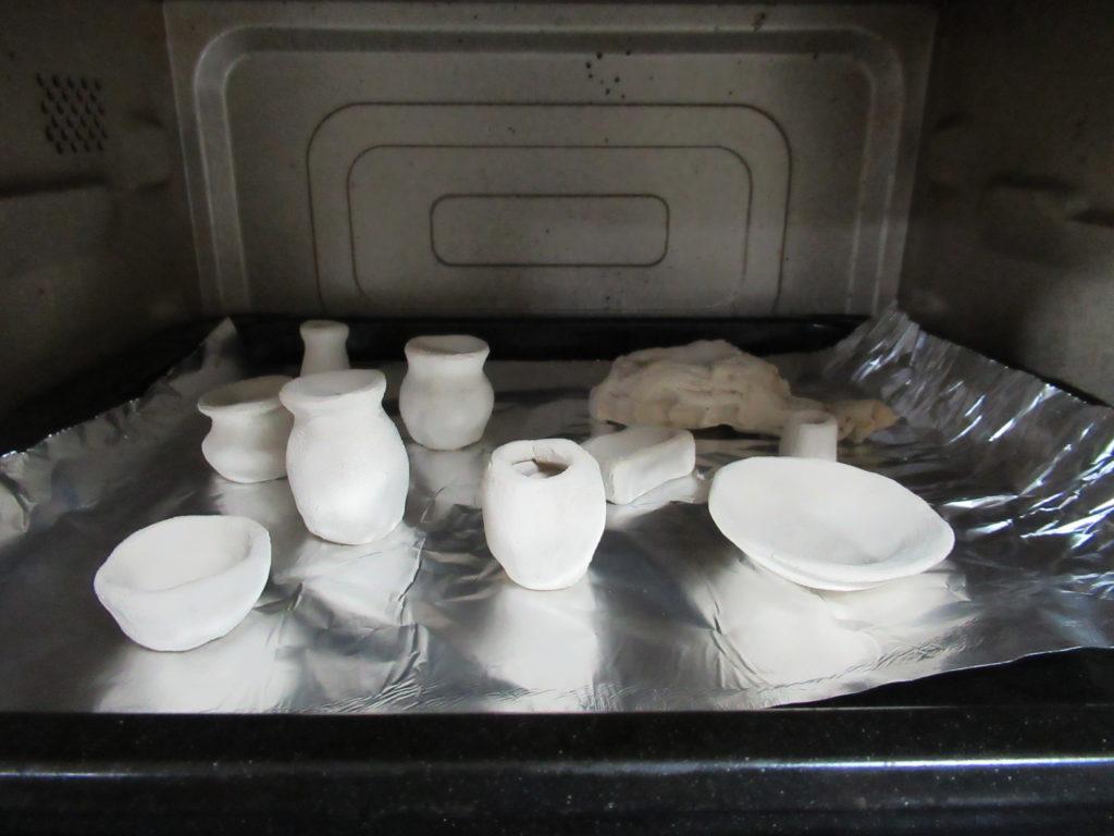 オーブン粘土を焼く