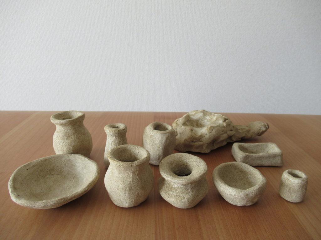 オーブン粘土で土器完成