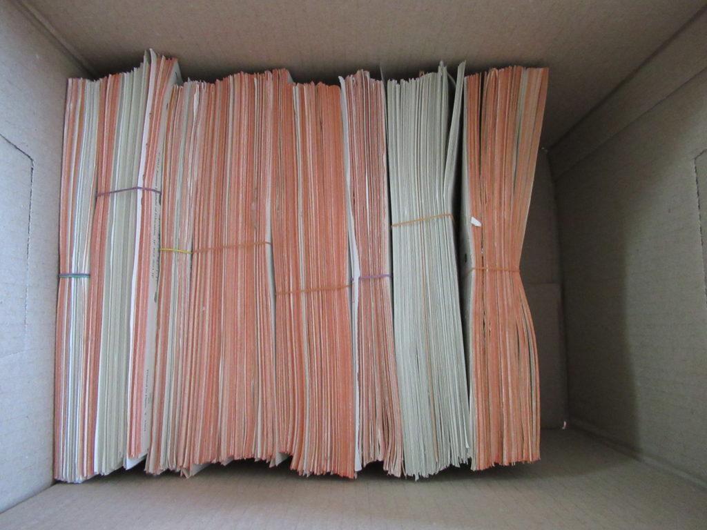 セリアのプレンティボックスA4に公文のプリントを入れたところ