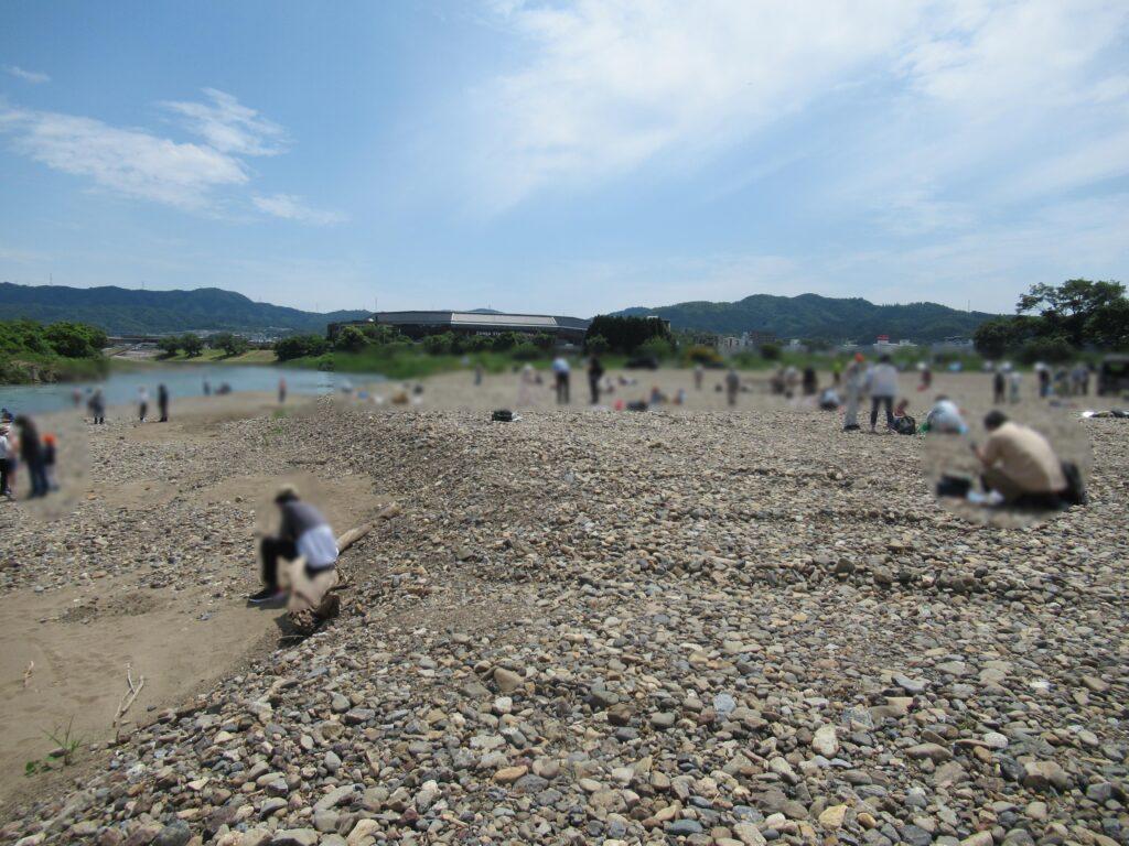 桂川(保津川)鉱物 石探し