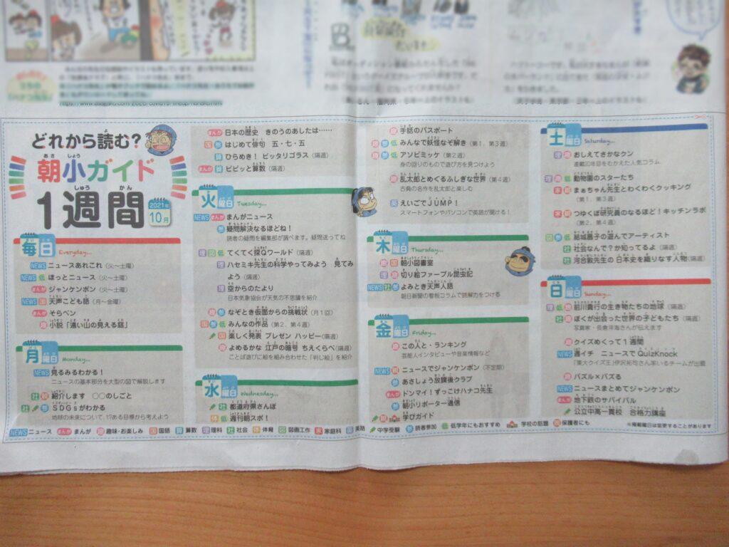 朝日小学生新聞 お試し